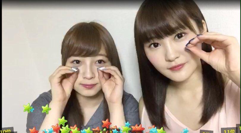 NMB48 東由樹と川上礼奈が夜食に天下一品を喰らう