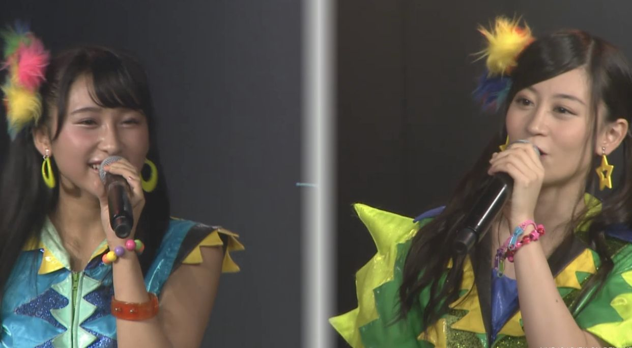 NMB48明石奈津子と上西恵みの「星空のキャラバン」アカペラハモリキタ━━━━(゚∀゚)━━━━!!