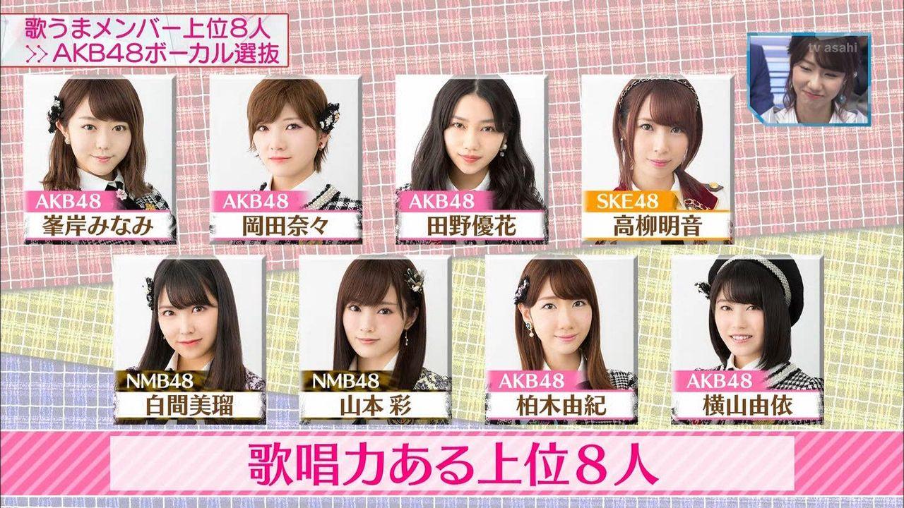 【悲報】MステのAKB48ボーカル選抜が放送事故。