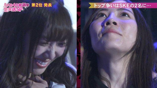 【AKB48選抜総選挙】史上初SKE48の1、2フィニッシュキタ━━━━(゚∀゚)━━━━!!【松井珠理奈/須田亜香里】