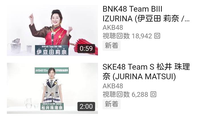 BNK48の総選挙アピールコメント動画再生回数がヤバすぎるwwwwwwwwwwww