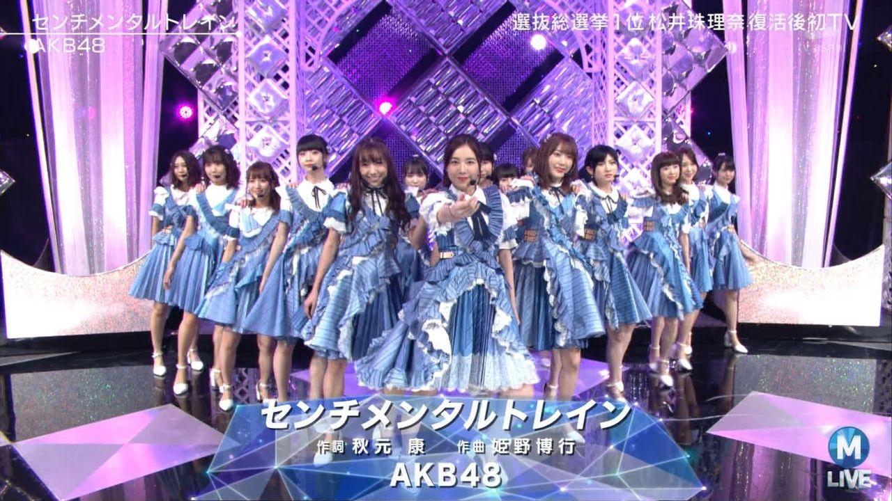 【速報】松井珠理奈 出演回のMステ視聴率wwwwwwwwwwww
