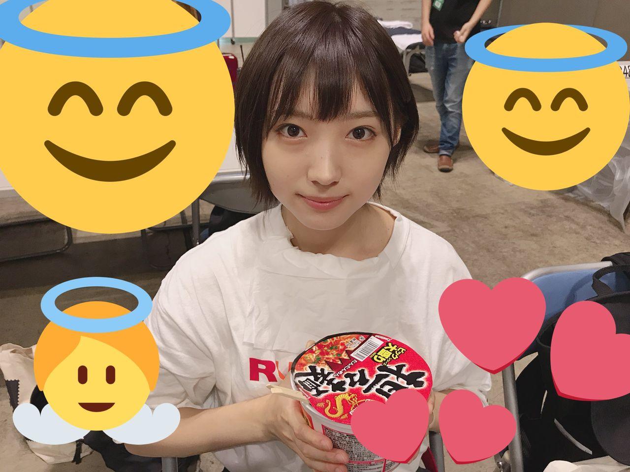 【NMB48】太田夢莉、ビッグ大盛りカップ麺を喰らう