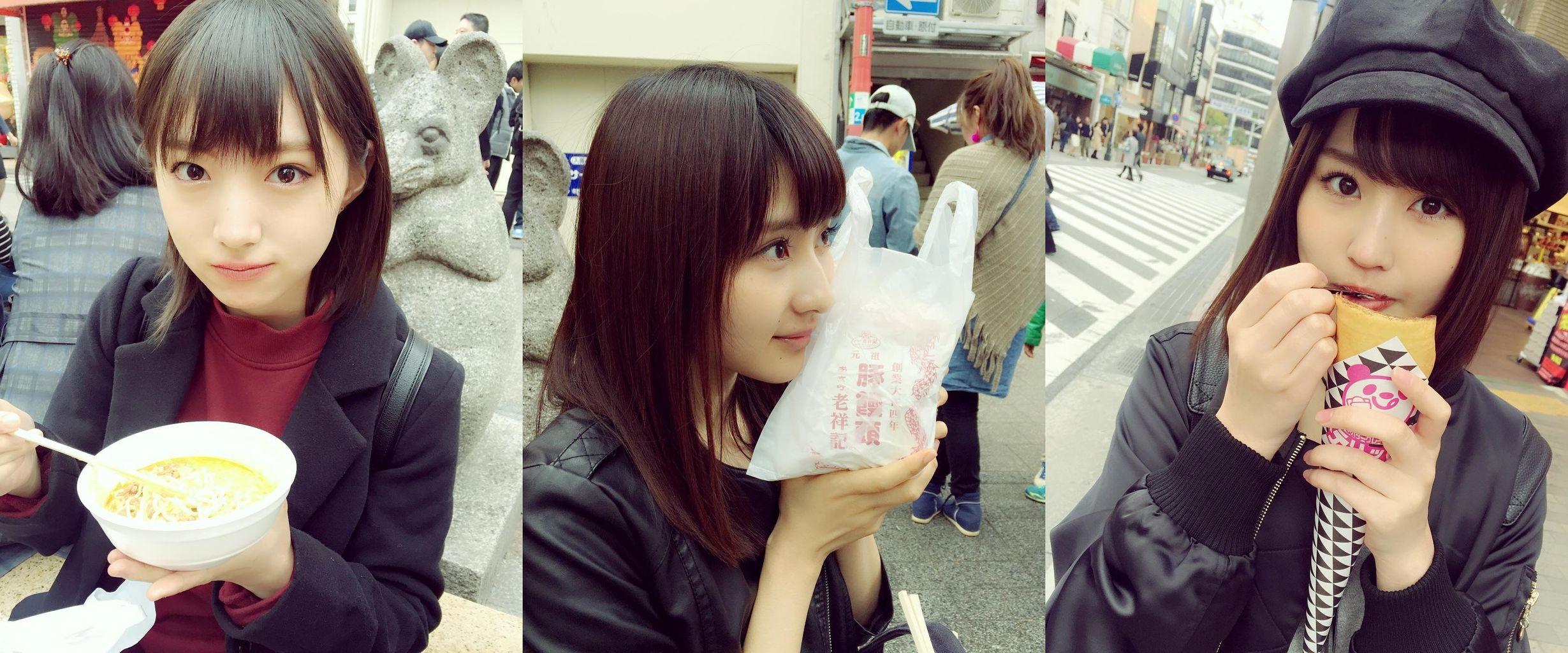 【NMB48】太田夢莉,古賀成美,林萌々香が神戸南京町で食べ歩き