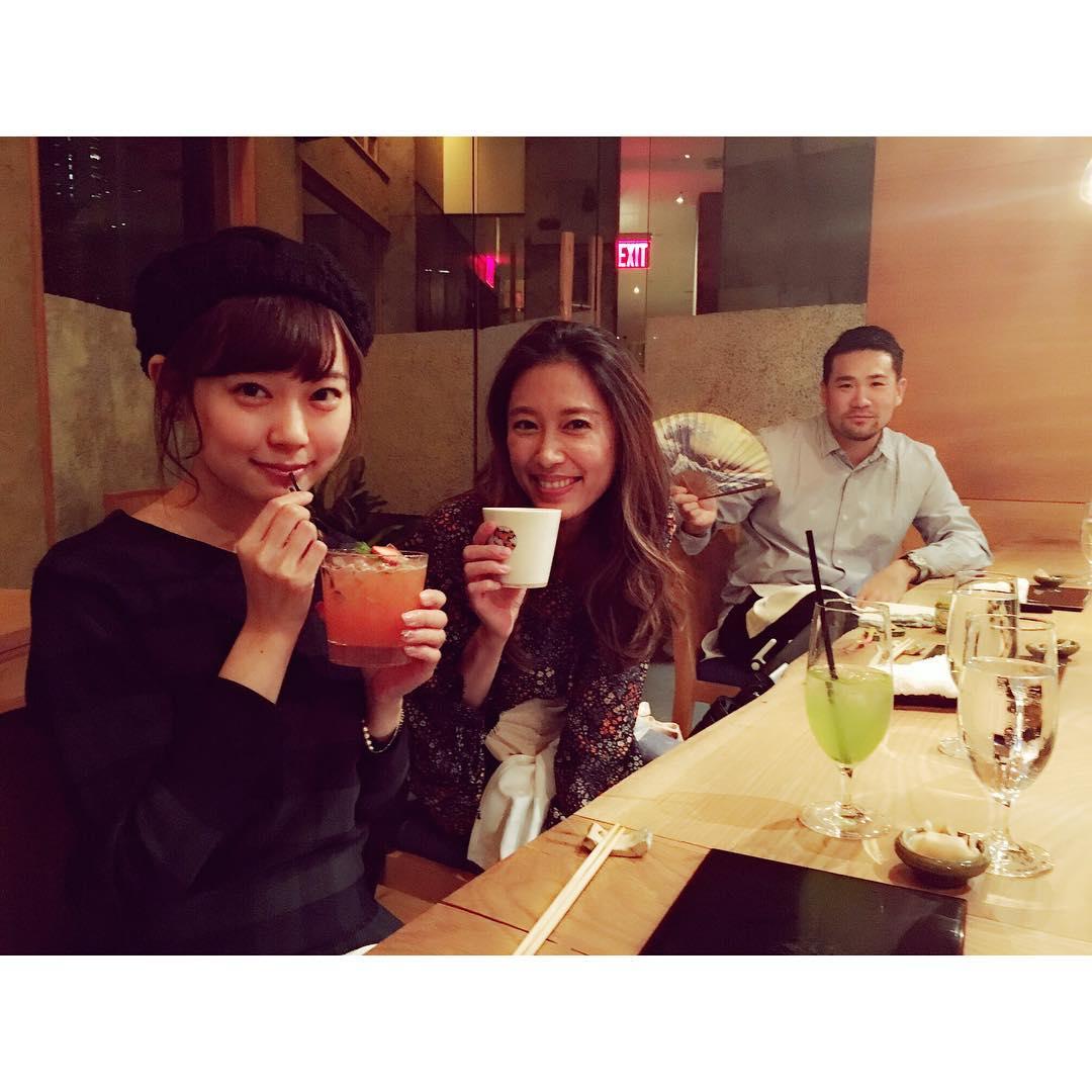 渡辺美優紀、NYで田中将大・里田まい夫妻と息子とお食事
