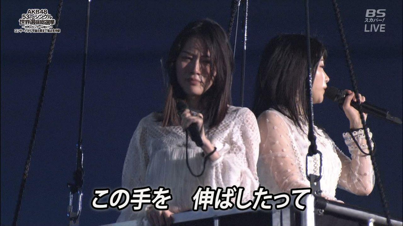 【速報】松井珠理奈さん、倒れる【AKB48選抜総選挙】