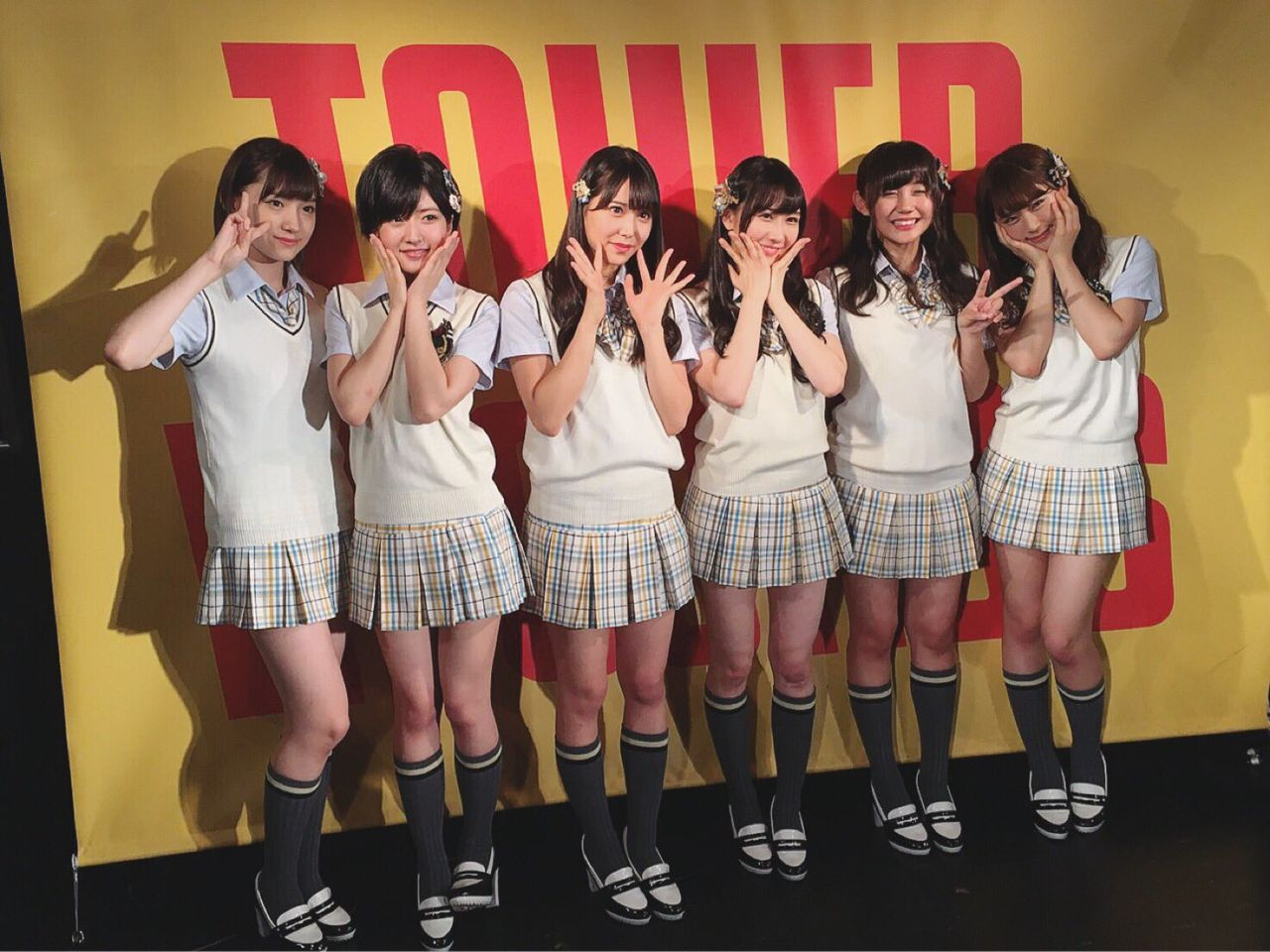 【NMB48渋谷タワレコイベント】NMBセンター争い中の6人が揃い踏み!
