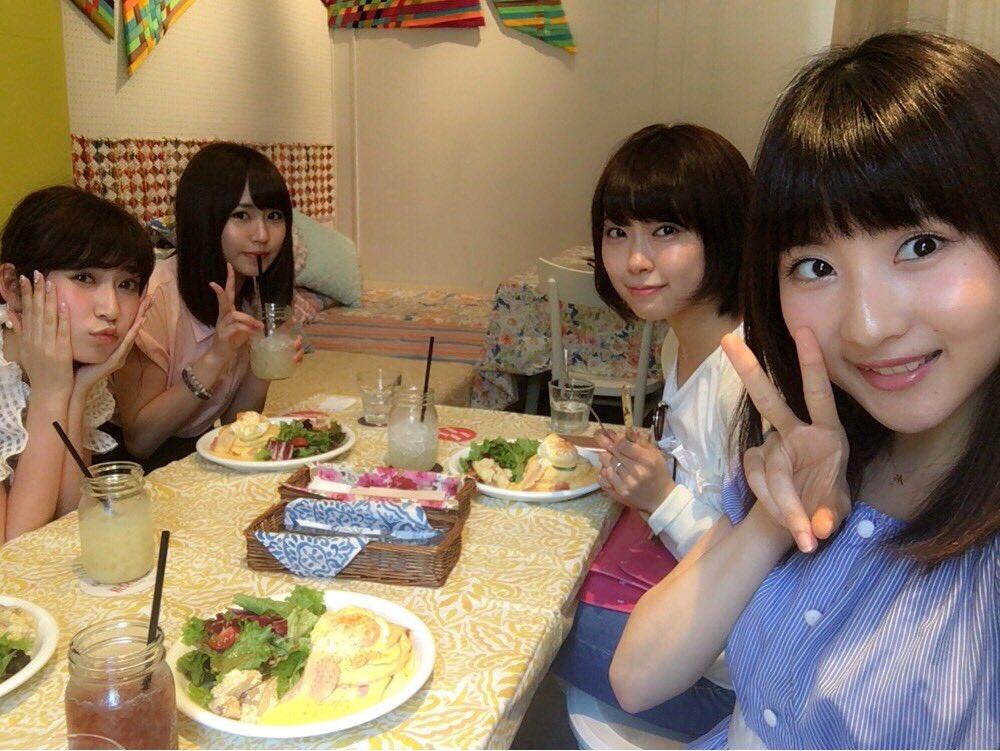 NMB48みるきー、アカリン、なるモカが仲良くランチ