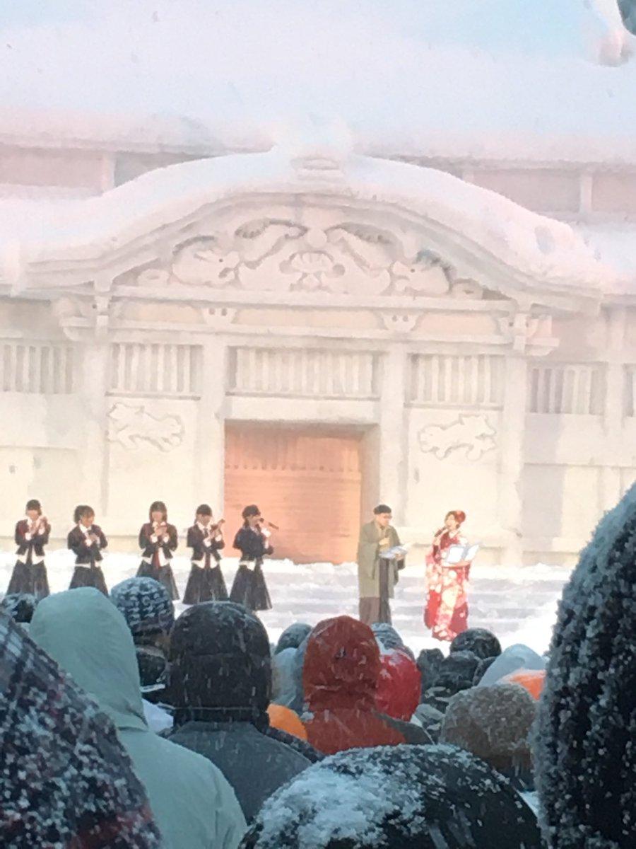 【悲報】NGT48、吹雪の中のライブ映像wwwwwwwwwwww