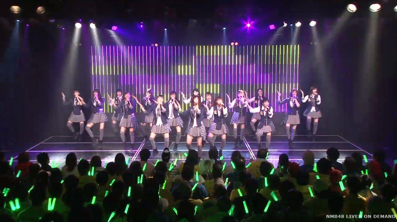【NMB48】チームN公演『ワロタピーポー』客席が緑ペンライト一色で大草原にwwwwww