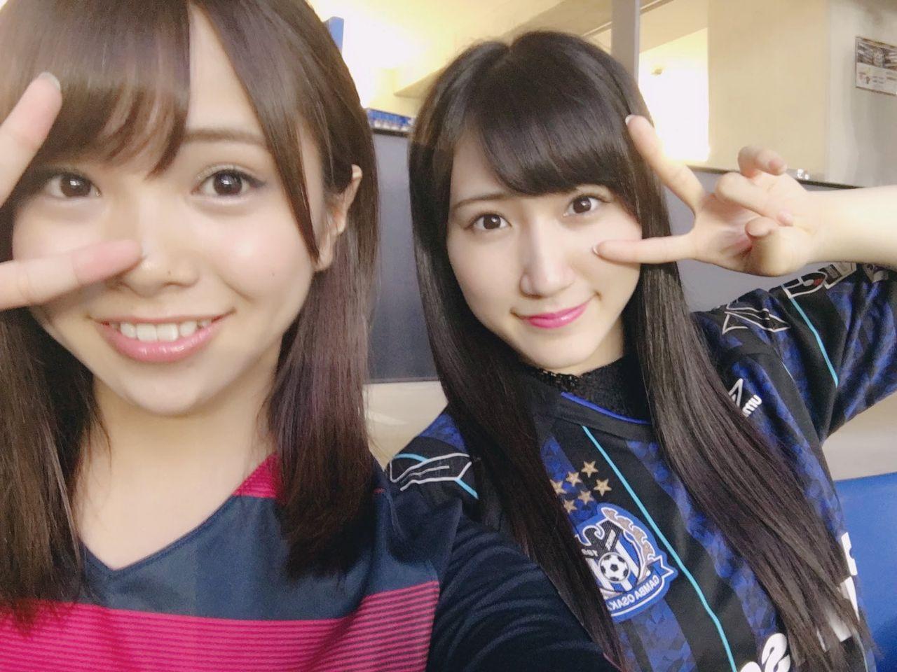 【NMB48】磯佳奈江(鹿島サポ)と西澤瑠莉奈(ガンバサポ)が一緒にサッカー観戦した結果・・・