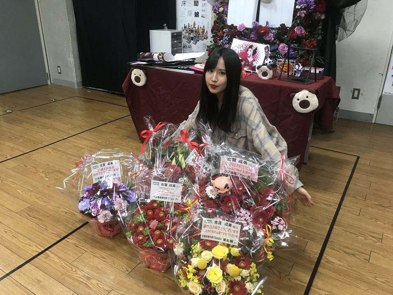 【NMB48】東由樹さん、メンバーの生誕祭に花束を贈ってしまうw