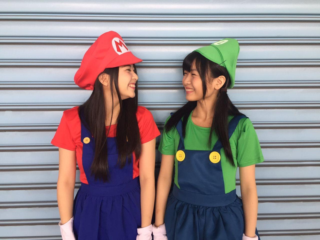 【NMB48】村中有基・堀詩音のマリオブラザーズがかわいい【ハロウィン】