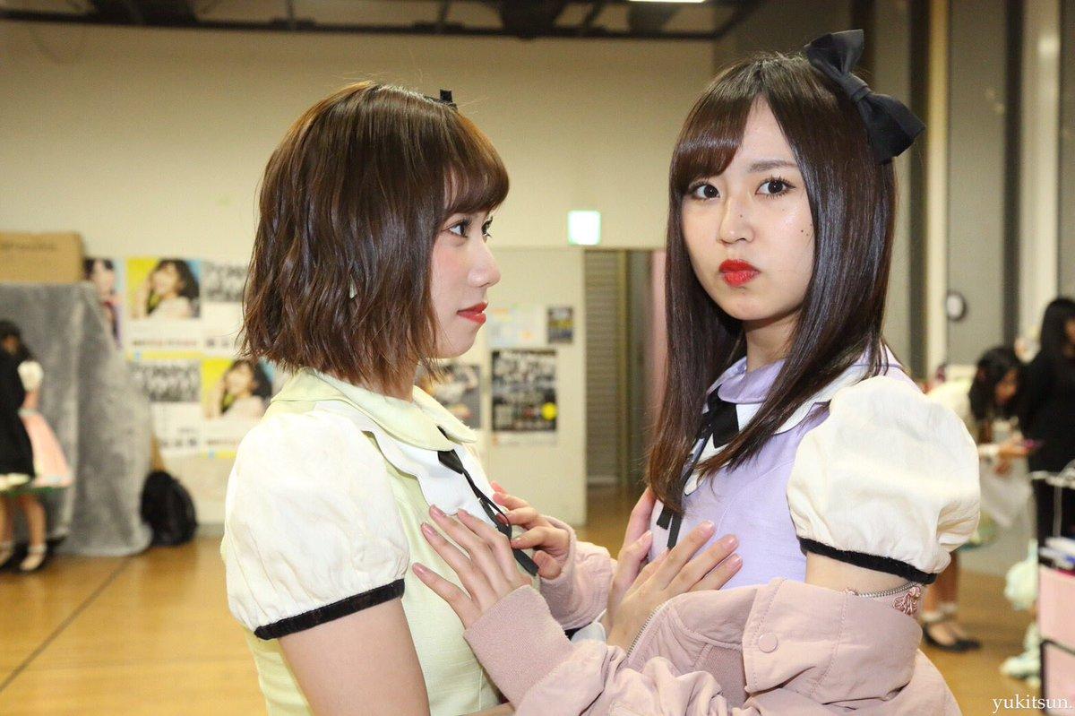 【朗報】石田優美と古賀成美がぱいおつを触り合う