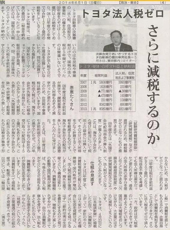 トヨタ法人税0