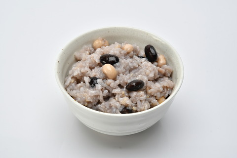 禄穀米炊きあがり