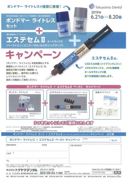 キャンペーンちらし(ボンドマー+エステセムⅡ):トクヤマ