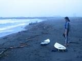 サーフィン見学。