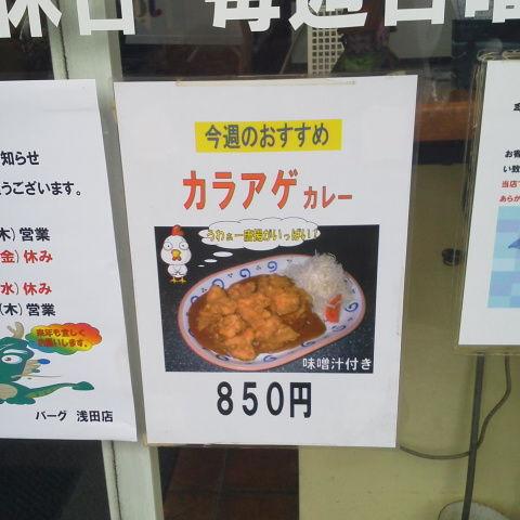 川崎 スタミナカレーの店 バーグ からあげカレー : それでも俺 ...