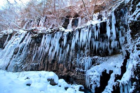 スッカン沢の大氷柱群を訪ねる!(栃木県那須塩原市)
