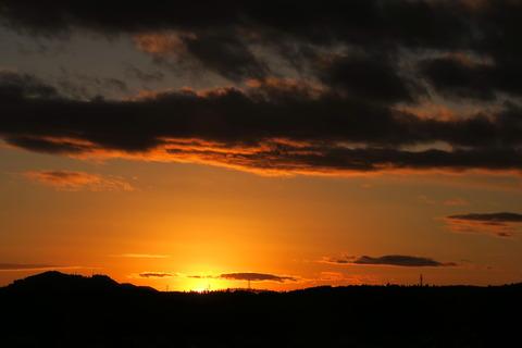 謹賀新年! 夕焼け散歩(1月1日)で始まったみちくさんぽ(*'▽')♪