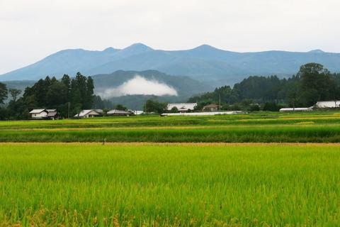 初秋の高原山(放牧場と八方湖:秋空恋しい空模様!)