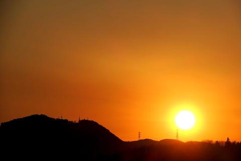 夕焼け散歩:喜連川丘陵にて(R03.01.31)