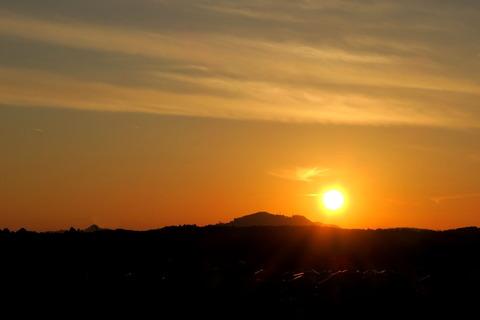 夕焼け散歩!(里山の森)