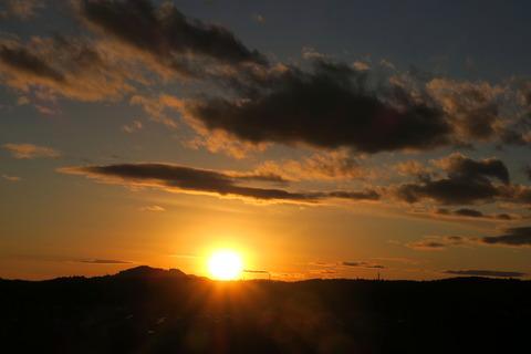 今年最後の夕焼け散歩(12月30日)