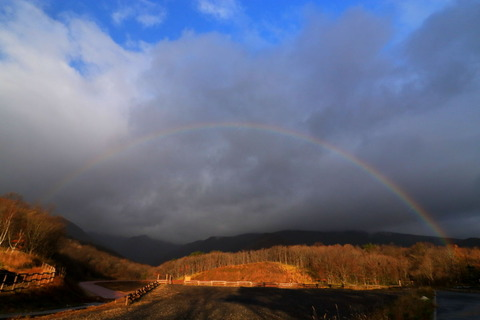 アーチを描く虹に出会った!