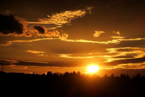 里山散策!(夕日の見える丘で夕焼け散歩!)