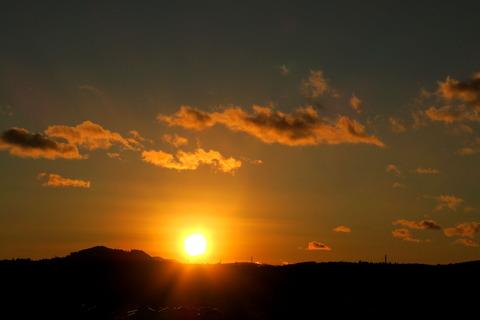 2021年元旦を祝う。そして今年を占う夕焼け散歩!(R03.01.01)