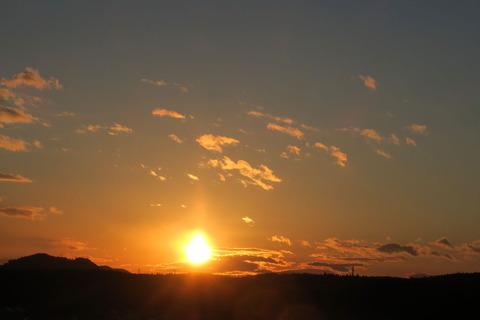 手術前の夕焼け散歩(1月14日)