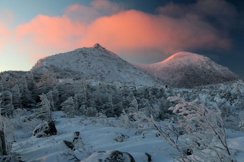 厳冬の北八ヶ岳(二日目、晴れ:天狗岳登頂!)