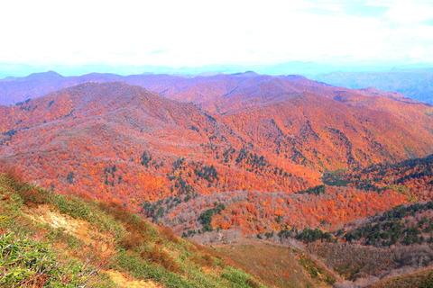 窓明山:全山紅葉のお山を見下ろした!