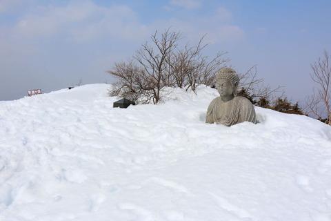 冬のお山のお釈迦様(栃木百名山:釈迦ヶ岳!)