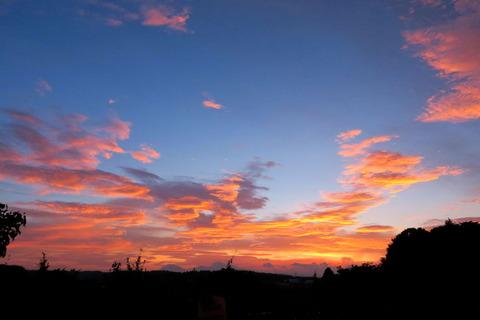 夕焼け、綺麗でした(^O^)/