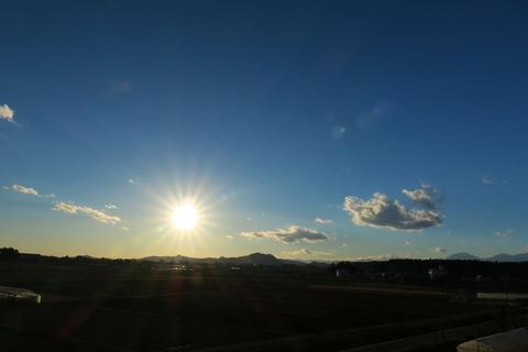 里山の夕焼け散歩!