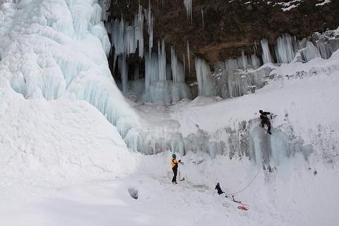 2011年1月22日凍てつく雲龍渓谷へ!