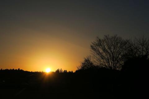 夕焼け散歩(2月12日)