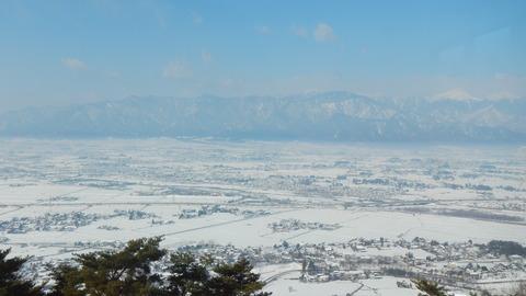 雪原が広がる安曇野にて北アルプスを堪能した!