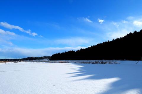 降雪の里山散策!
