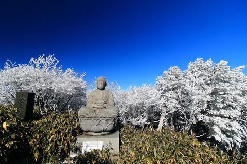 初冬の森にて霧氷を楽しむ!(高原山山塊:釈迦ヶ岳)