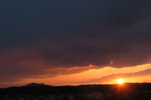 夕焼け散歩(2月13日)
