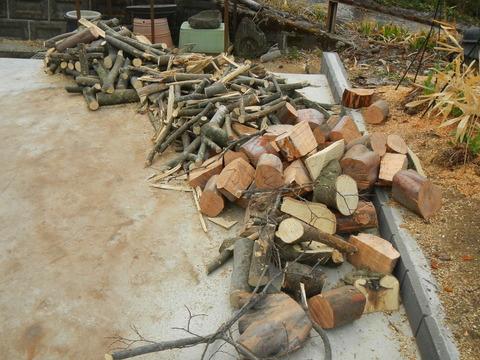 まだ終わらなかった、来冬のための薪割り作業№2(薪割り&積み込み!)