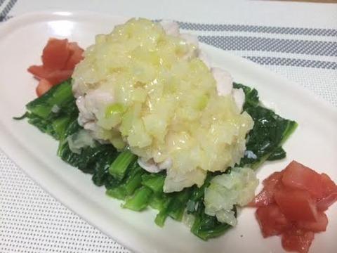 かき菜鶏肉