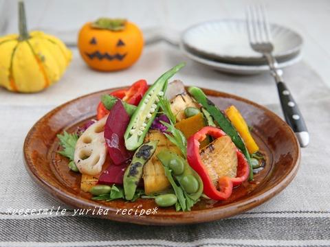 かぼちゃと柿のサラダ小