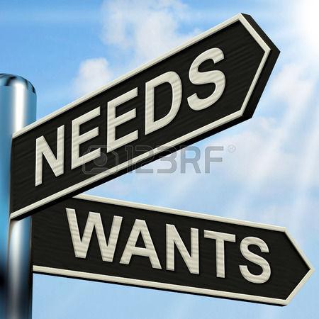 26961603-必要な道標意味必要性および欲求を望んでいます。