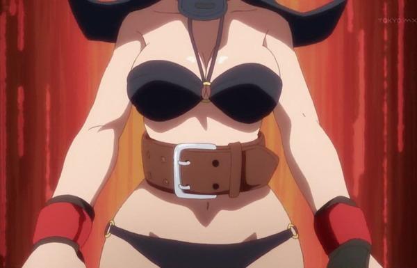 アニメ『ダンベル何キロ持てる?』7話で女の子がエロい水着姿で筋トレするアイドル姿!のサムネイル画像