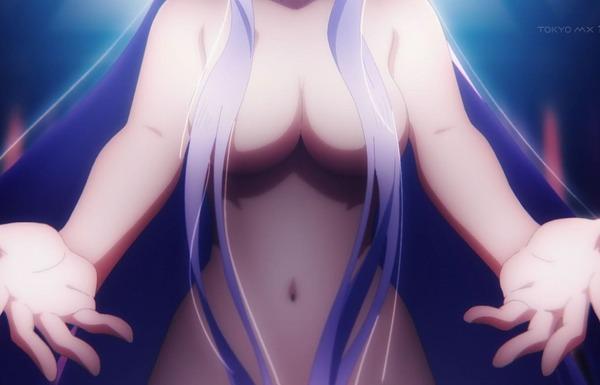 アニメ『ソードアート・オンライン アリシゼーション』19話でおっぱいに誘惑されるエロシーン